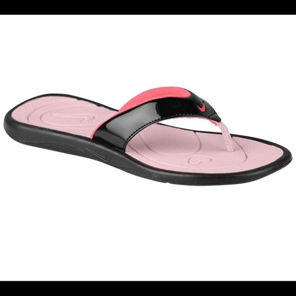 052d4f68d01bb New Girl s Nike Black Aqua Motion Thong Sandals